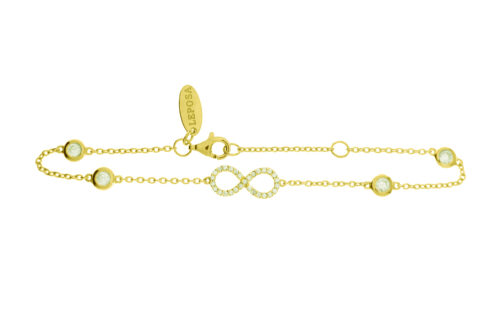 Leposa Bracelet Infinity yellow plated