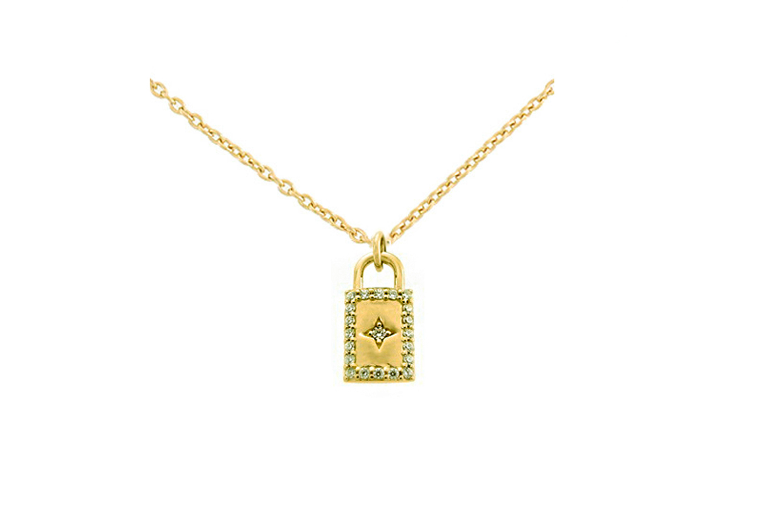 Leposa Lock Necklace yellow plated