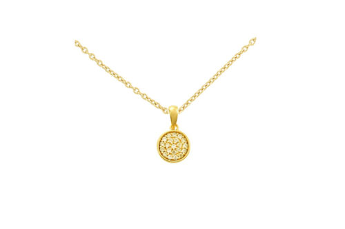 Leposa necklace yellow gold plated