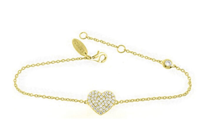 Leposa bracelet heart yellow gold plated