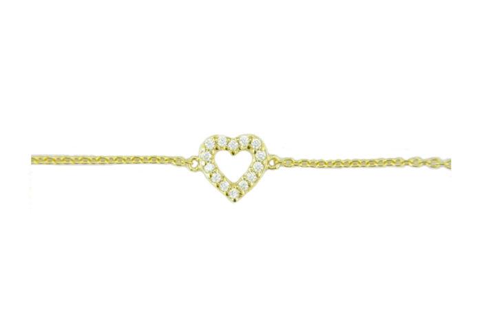 LEPOSA Silver Heart Bracelet